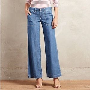 Anthropologie Jeans - Anthro Pilcro Wide-Leg Chambray Jeans